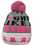 Pearsox Breast Cancer Awareness Beanie (Fight Like a Girl)