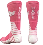 Breast Cancer Awareness Ribbon Crew Socks by Pearsox - (Surge Hope)