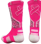 Breast Cancer Awareness Crew Socks by Pearsox - Ribbon Digital Camo