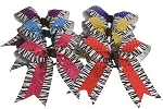 Pizzazz  Zebra Print with Sequin Hair Ribbon Bows