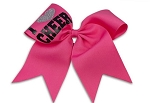 Pizzazz Pink  I Love Cheer Hair Bows