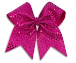 Pizzazz XL Hot Pink Sequin Hair Bows