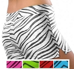 Pizzazz Zebra Glitter Shorts