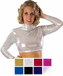 Crop Top by Pizzazz - Metallic