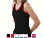Pizzazz MVP Racer Back Top with Trim