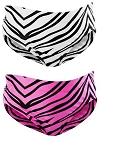 Cheer and Dance Briefs by Pizzzazz - Zebra Print