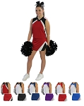 Pizzazz Premier Flare Cheerleading Uniform Shell and Tumble Skirt