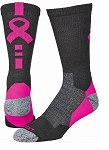 Breast Cancer Awareness Ribbon Crew Socks by Profeet Shooter
