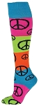 Red Lion Rainbow Peace Knee High Socks  Closeout