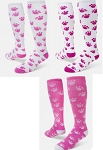 Pink Paw Print Crazy Socks by Red Lion