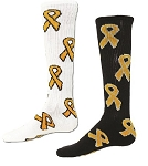 Childhood Cancer Awareness Ribbon Socks by Red Lion