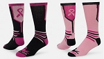 Breast Cancer Awareness Ribbon Crew Socks by Red Lion - The Fighter
