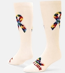 Red Lion Autism Ribbon Puzzle Crew Socks