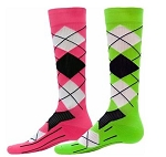 Red Lion Argyle Compression Socks