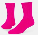 Pink Crew Socks by Red Lion - Neon