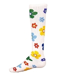 Garden Multi Colored Flower Socks