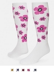 Red Lion Flower Knee High Socks Closeout