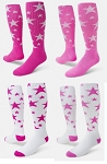 Pink Stars Athletic Crazy Socks by Red Lion