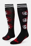 Flaming Soccerball Knee High Socks by Red Lion