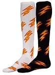 Red Lion Thunder Lighting Bolt Socks