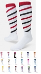 Red Lion Cyclone Spiral Stripe Knee High Socks Closeout