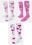 Pink Hearts Knee High Socks by Red Lion