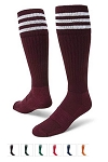 Three Stripe Knee High Socks by Red Lion - Mach III Closeout