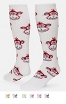Closeout Red Lion Monkey Face Knee High Socks