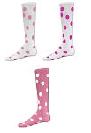 Pink Polka Dot Knee High Socks by Red Lion