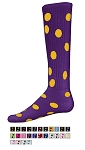 Polka Dot Knee High Socks by Red Lion