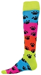 Paws Knee High Socks by Red Lion - Rainbow