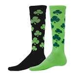 Red Lion Lucky Shamrock Knee High Socks Closeout