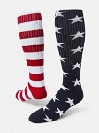 Red Lion Independence Day Knee High Socks