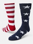 Freedom Stars and Stripe Crew Socks by Red Lion