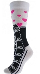 Red Lion  Sneaker Hearts Crew Socks