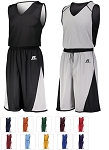 Reversible Basketball Uniforms by Russell - Undivided Single Ply