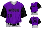 Prosphere Premium Sublimated Custom Baseball Jerseys (Pinstripes with Accent Sleeves)