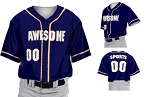 Prosphere Premium Sublimated Custom Baseball Jerseys (3 Color Piping)