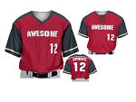 Prosphere Premium Sublimated Custom Baseball Jerseys (Barrel Up)