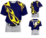 Custom Baseball Jerseys by Prosphere Sublimated  (Flames)
