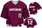 Custom Baseball Jerseys by Prosphere Sublimated (Force Play)