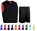 Teamwork Fadeaway Basketball Uniforms Short and Reversible Jersey