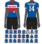 Custom Juice Sublimated Women/Girls' Two Button Pro Neck Jersey