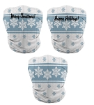 Custom Holiday Gaiter Face Masks by ProSphere (Snowflake)
