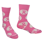 Breast Cancer Awareness Ribbon Crew Dress Socks by Pearsox - Athleisure Heart