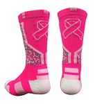 Breast Cancer Awareness Ribbon Crew Socks by Pearsox - Ribbon Digital Camo
