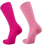 Pink Crew Socks by Twin City