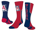 Officially Licensed Twin City Collegiate Socks (University of Arizona)