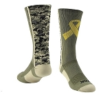 Custom Yellow Ribbon Military Awareness Crew Socks by Twin City