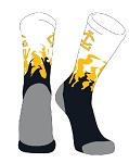 Flame Crew Sock  with Logo by Twin City